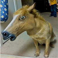 Halloween Animal mask/Latex Rubber Horse mask