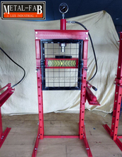 20 Ton Manual Hydraulic Floor Shop Press With Gauge, Press Pin Set & Grid Guard