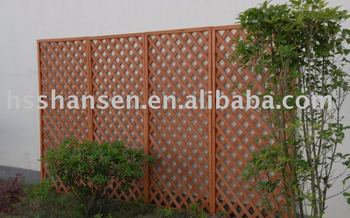 cheap outdoor solid wooden decorative garden fence wth trellis