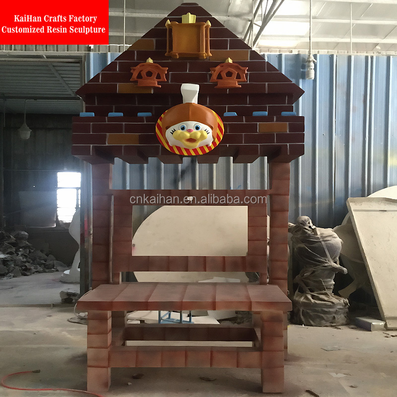 Custom made fiberglass house shaped sculpture Kiosk