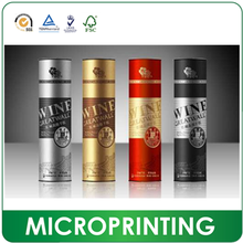 Manufacturer Custome Paper Tube Packaging For Bottles Of Wine