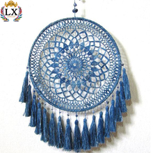 DLX-00031 boho 30cm wholesale 100% handmade large dream catcher tassel crochet dreamcatcher