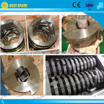 SPARK Blades Set On Tire Recycling Shredder Machine