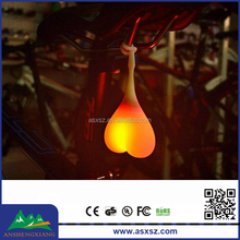 silica gel lamp cycling lamp lights beating heart Bicycle taillights