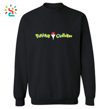 Pokemon Go Clothing Black Pullover Hoodie Sweatshirt Women/men Casual Warm Fleece Pullover Couple