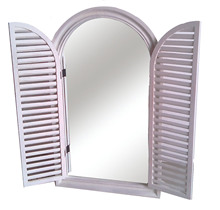Arched Framed Window Mirror
