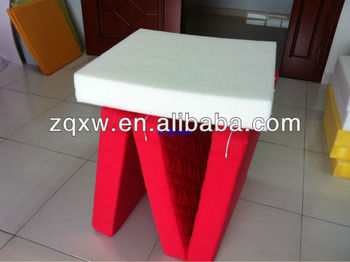 folded polyester mattress