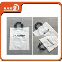 Fashion garment packing length plastic handle bag