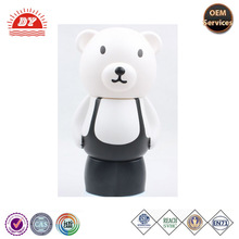 custom rubber white cartoon bear money box