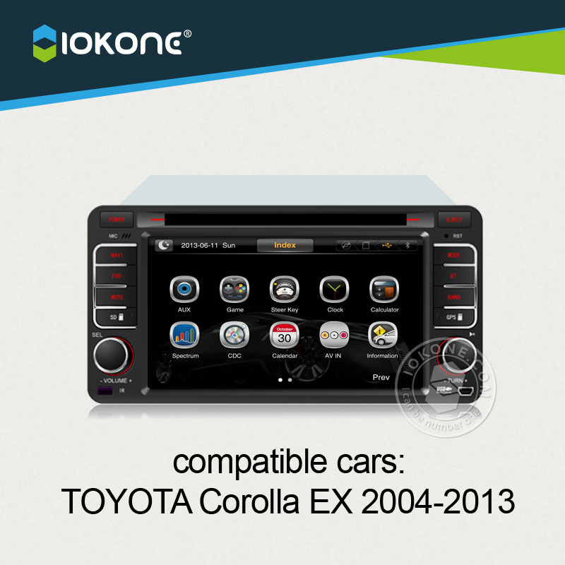 Central multimedia For Toyota Corolla EX 2004 to 2013