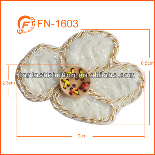 nice cream white applique embroidery flower patches