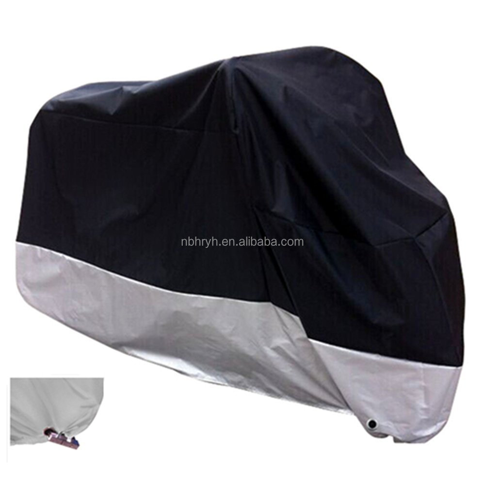 "XX Large & Lockholes All Season Black Waterproof Sun Motorcycle Cover,Fits up to 108"" Motors"