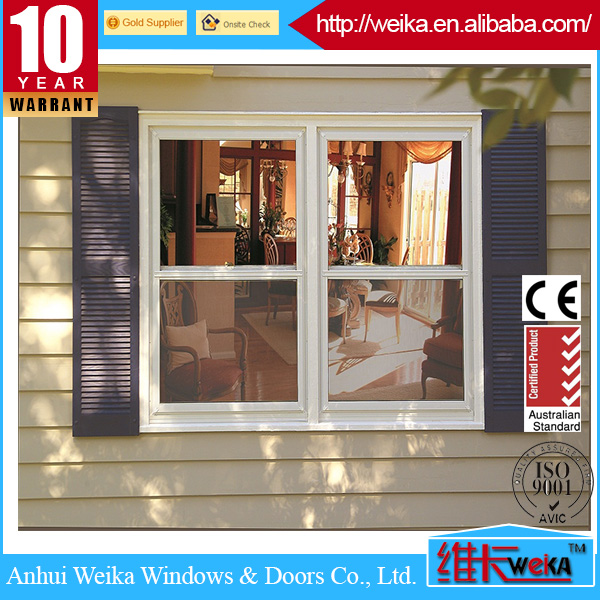 timber color aluminum casement window with good quality