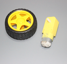 Intelligent car chassis robot tire + <strong>DC</strong> reduction motor set wheel motor 70g