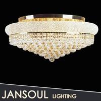 Zhongshan high quality flush mount modern crystal ceiling light design, ceiling lighting fixture