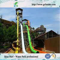 Factory outlets fiberglass high speed water slides for water park