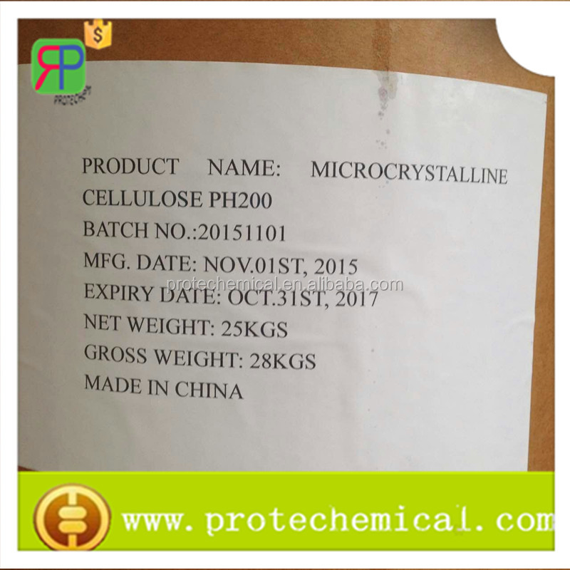 USP/BP/EP/CP microcrystalline cellulose ph200 tablet binder