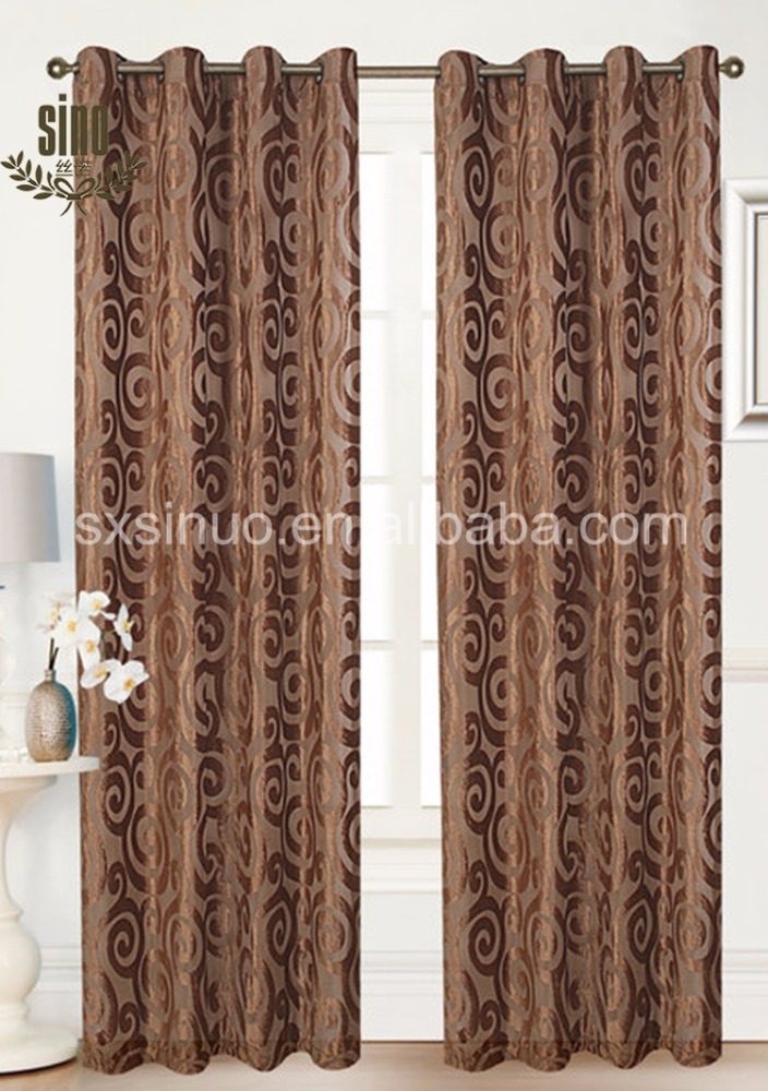 Chinese Factory Cheap hot sale 100% polyester jacquard curtains instead of interior doors