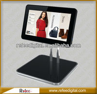 15 Inch Ipad Style Mall Hotel Table Stand price display lcd for supermarket