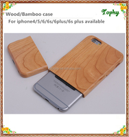 Newest whole wood case for iphone 6/for custom printed engraved iphone case/design your own detachable mobile phone case