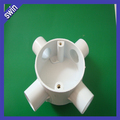 hot sell fireproof 4 way PVC electrical round outlet box