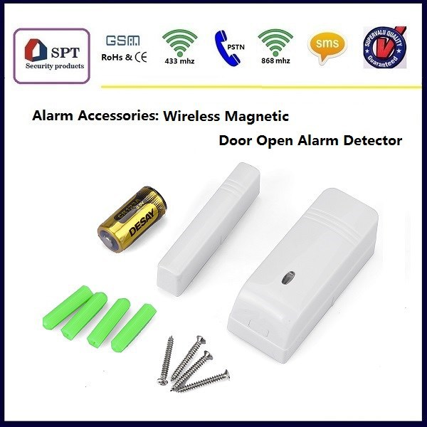 Door open wireless sensors, home security products, door open detector