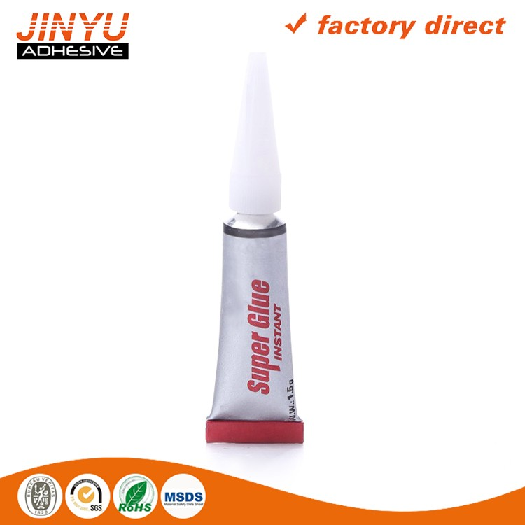 Factory price instant bond super glue for wood plastic fabric rubber bonding