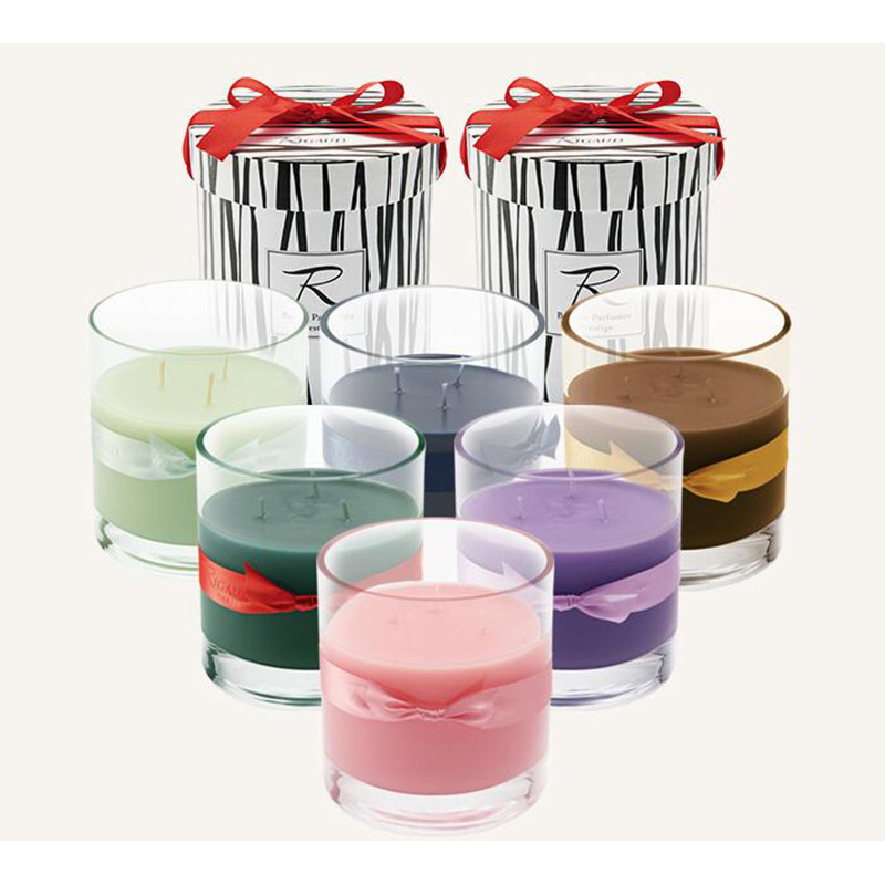 Luxury brand glass scented candles jar in gift box with for Best scented candle brands