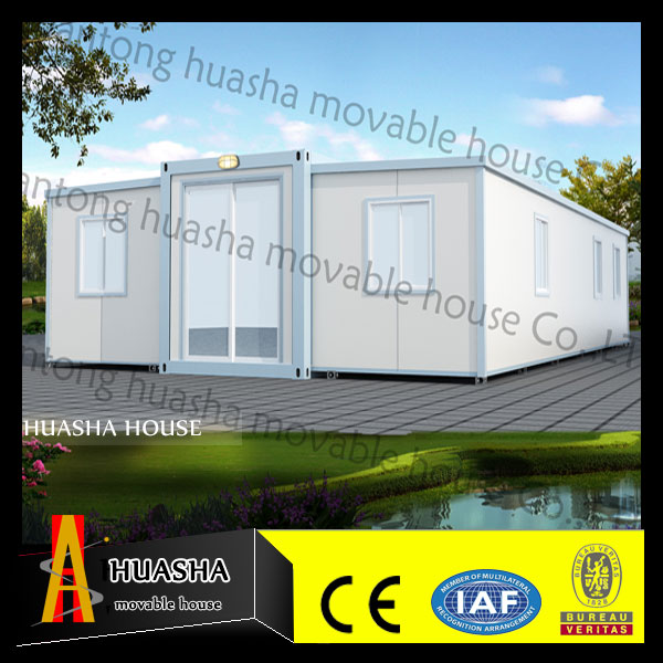 40ft large space prefab light steel weight frame expandable cabin