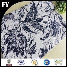 high quality digital printed 100% linen fabric for women garment