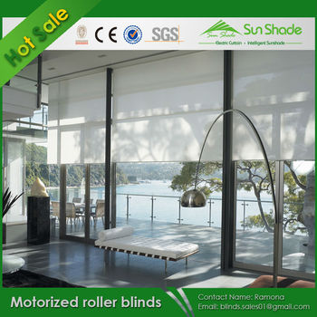 Diy automatic motorized roller blinds with cheap prices for Cost of motorized blinds