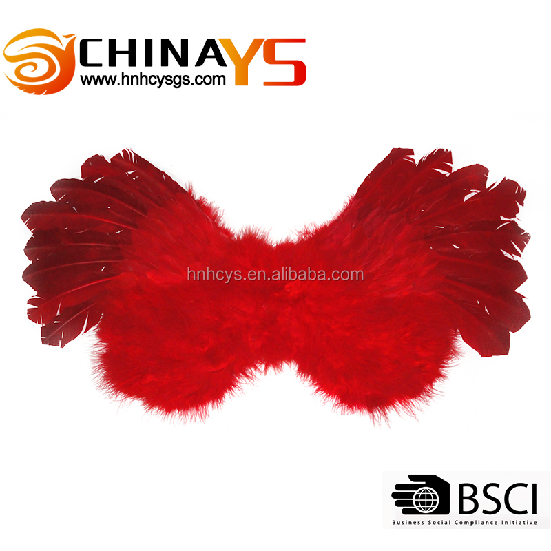 Lady costume decorative red feather wings YS8054 for carnival arrangements