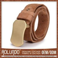Customization Leather Belt Mens Yellow Belt