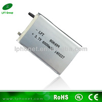 Rechargeable high capacity 806498 3.7v 6000mah lithium polymer battery mid tablet pc battery replacement