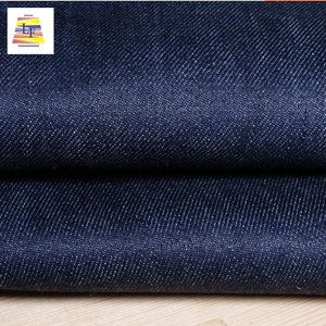 2018 New Fashion Stock Lot Different Color Weft Yarn Elastic Cotton / Polyester Denim Textile Material Fabric