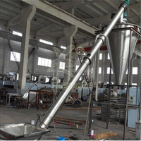 Tube fiexible screw conveyors with hopper