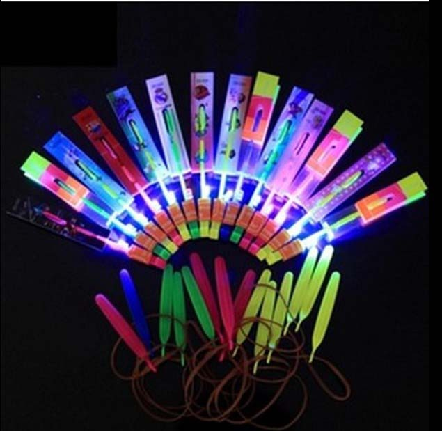best selling high quality blue light copters night flashing copter flying umbrella amazing led arrow helicopter toy