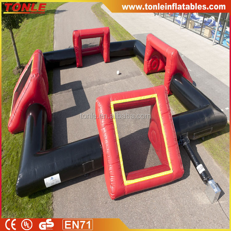 larger Inflatable soccer field multiple goals/ inflatable soccer game