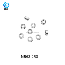 High Precision MR63ZZ MR63-2RS Miniature Deep Groove Ball Bearings for Toys 3x6x2.5mm