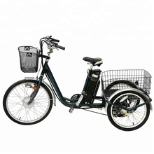 Three wheel electric cargo bike , 3 wheel electric bicycle cargo trike tri rider (elek) trike for adults
