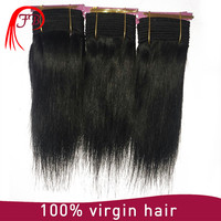 Wholesale Russian human hair extensions 1# kinky straight weave hair