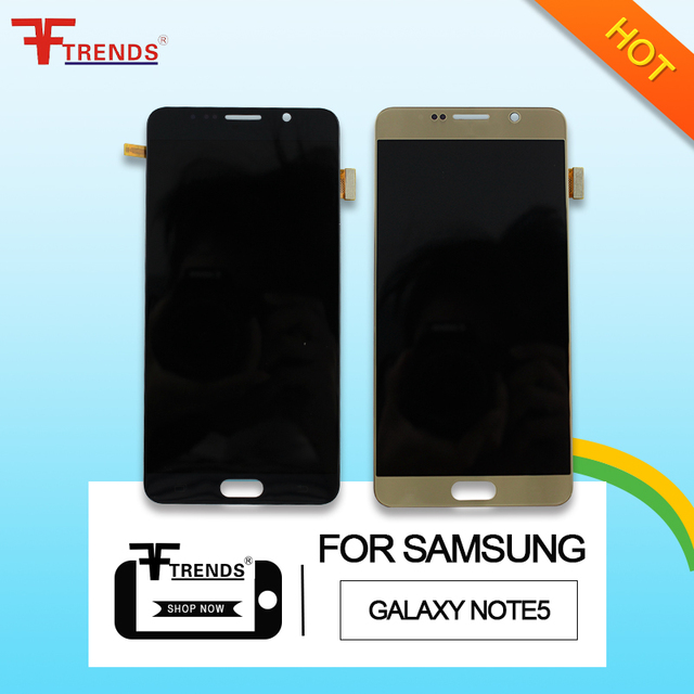 LCD display screen digitizer replacement for Samsung Galaxy Note 5 tested one by one 100% working high quality