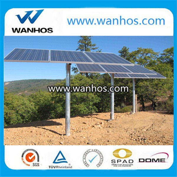Solar PV mounting system structure using ground screw post anchor