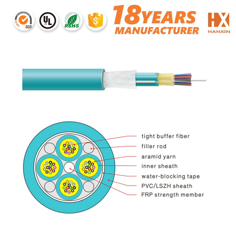 By OEM provider insulated 2 to 24 cores flexible fiber cable