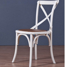 High quality french design cross back wood wedding chair
