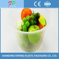 Widely used plastic disposable pp food fruit container tray
