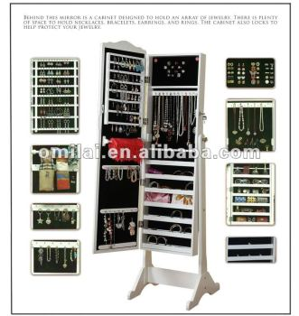fashion jewelry armoire with mirror