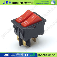 On off 2 gang lighted rocker switch