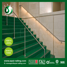 outdoor stainless steel pipe stair step handrail/railing
