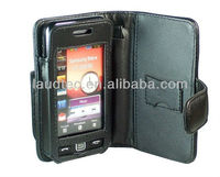 Bookstyle Leather Case for Samsung S5230, Cover Laudtec